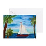 Palm trees Greeting Cards (20 Pack)