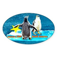 STAR Penguins S. America LOGO Oval Sticker (10 pk)
