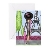 Eifel Tower Fashion Greeting Cards (Pk of 20)