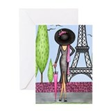 Eifel Tower Fashion Greeting Card