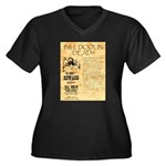 Bill Doolin Dead Women's Plus Size V-Neck Dark T-S