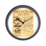 Bill Doolin Dead Wall Clock