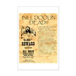 Bill Doolin Dead Mini Poster Print