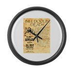 Bill Doolin Dead Large Wall Clock