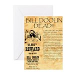 Bill Doolin Dead Greeting Cards (Pk of 20)
