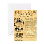 Bill Doolin Dead Greeting Card
