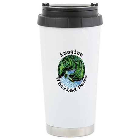 Imagine Whirled Peas Ceramic Travel Mug
