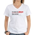 Rather be Different Women's V-Neck T-Shirt