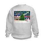 Xmas Magic & Whippet Kids Sweatshirt