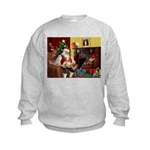 Santa's Whippet Kids Sweatshirt