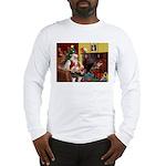Santa's Whippet Long Sleeve T-Shirt
