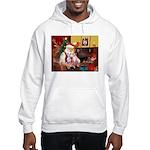Santa & his 2 Whippets Hooded Sweatshirt