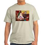 Santa & his 2 Whippets Light T-Shirt