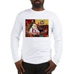 Santa & his 2 Whippets Long Sleeve T-Shirt