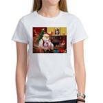 Santa & his 2 Whippets Women's T-Shirt