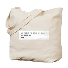 I ROCK AT BASIC Canvas Tote Bag