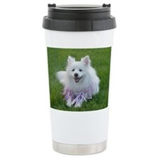 American Eskimo Dog Ceramic Travel Mug