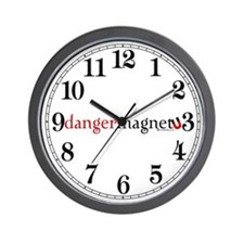 Danger Magnet Wall Clock