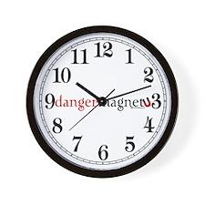 Danger Magnet Wall Clock