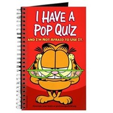 Pop Quiz Garfield Journal