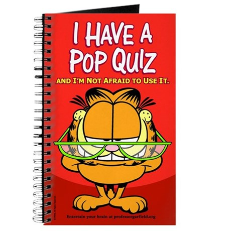 Pop Quiz Garfield Journal