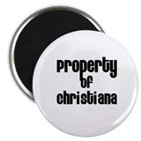 "Property of Christiana 2.25"" Magnet (10 pack)"