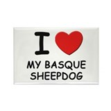 I love MY BASQUE SHEEPDOG Rectangle Magnet (10 pac