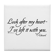 Look After My Heart Tile Coaster