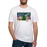 XmasMagic/Wheaten (#5) Fitted T-Shirt