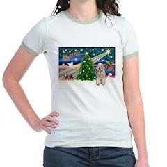 XmasMagic/Wheaten (#5) Jr. Ringer T-Shirt