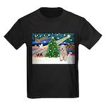 XmasMagic/Wheaten (#5) Kids Dark T-Shirt