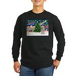 XmasMagic/Wheaten (#5) Long Sleeve Dark T-Shirt