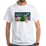 XmasMagic/Wheaten (#5) White T-Shirt