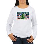 XmasMagic/Wheaten (#5) Women's Long Sleeve T-Shirt