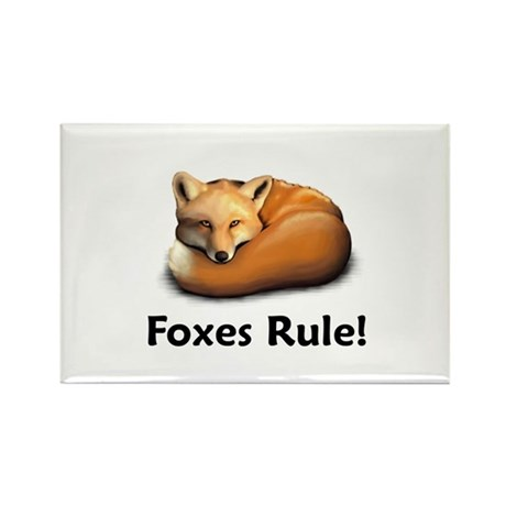 Foxes Rule! Rectangle Magnet (100 pack)