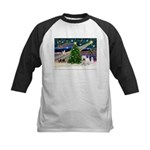 Xmas Magic & Westie Kids Baseball Jersey