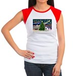 Xmas Magic & Westie Women's Cap Sleeve T-Shirt
