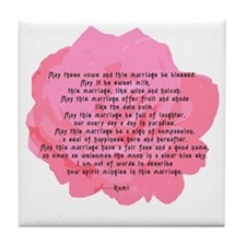RUMI Poem Wedding Blessing Tile Coaster