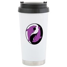 Yin Yang Dolphins 6 Ceramic Travel Mug