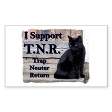 I Support TNR Rectangle Decal