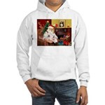 Santa's Westie pair Hooded Sweatshirt