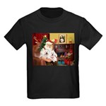 Santa's Westie pair Kids Dark T-Shirt