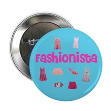 "Fashionista 2.25"" Button"