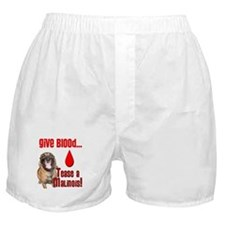 Give Blood - Tease a Malinois Boxer Shorts