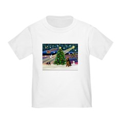 Xmas Magic & Welsh Terrier Toddler T-Shirt