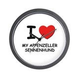 I love MY APPENZELLER SENNENHUND Wall Clock