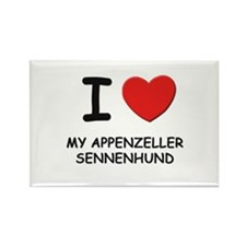 I love MY APPENZELLER SENNENHUND Rectangle Magnet
