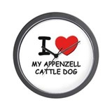 I love MY APPENZELL CATTLE DOG Wall Clock