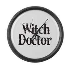 Witch Doctor Large Wall Clock