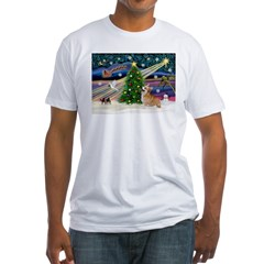 XmasMagic/Corgi (7b) Fitted T-Shirt